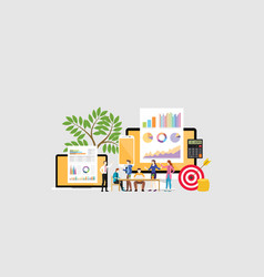 Digital marketing team concept with people vector