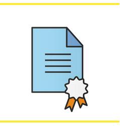 diploma color icon vector image
