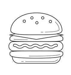 Double hamburger line icon vector