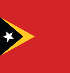 East timor flag for independence day and vector
