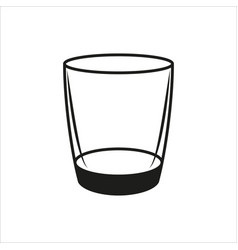 empty glass in simple monochrome style icon vector image