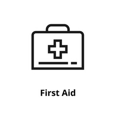 first aid line icon vector image