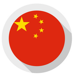 flag china round shape icon on white background vector image