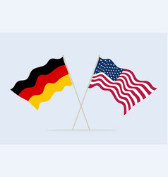 flag usa and germany together a symbol of vector image