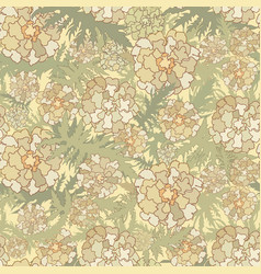 floral pattern flowers leaves seamless background vector image