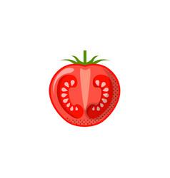 Fresh juicy vegetable - tomato icon vector