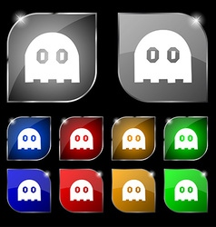 Ghost icon sign Set of ten colorful buttons with vector image
