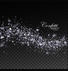 glittering silver stream of sparkles vector image