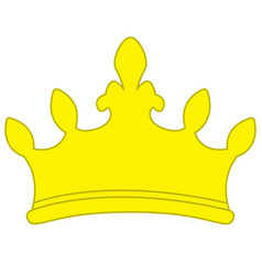 golden yellow crown icon symbol vector image