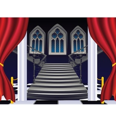 Gothic Stairs Interior9 vector