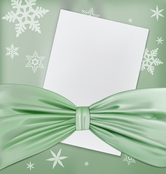 green bow paper vector image
