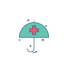 health care health insurance medical umbrella vector image