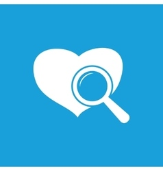 Heart checkup icon white vector