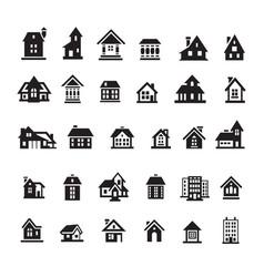Houses icon set vector