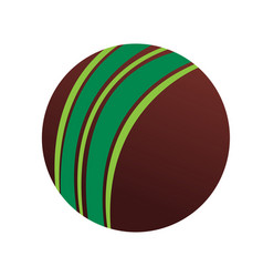 isolated cricket ball icon vector image