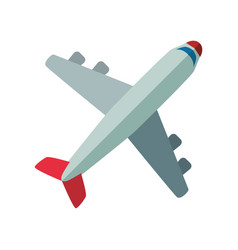 Jet airplane isolated vector