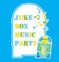 Jukebox frame cartoon vector