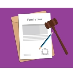 Legal concept of family law vector image