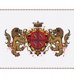 lion crest vector image