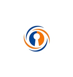 lock security save protection logo vector image