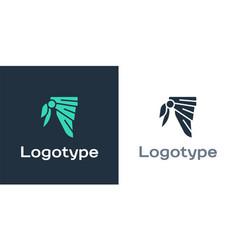 Logotype bandana or biker scarf icon isolated on vector