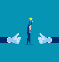 manager showing thumb up concept business vector image