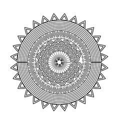 Mandala decorative ethnic element adult coloring vector