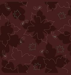Maroon elegant floral seamless repeat pattern vector