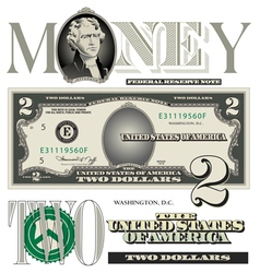 money 2 Dollar vector image