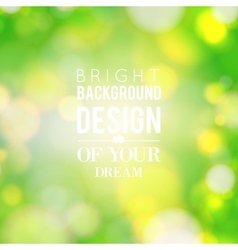Natural green blurred background vector image