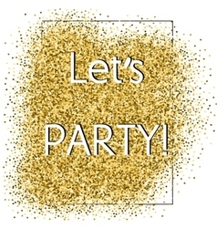 Party glittering card vector