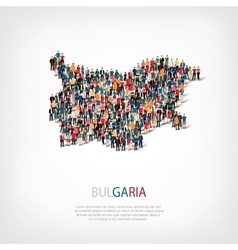 people map country BULGARIA vector image