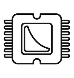 Phone processor icon outline style vector