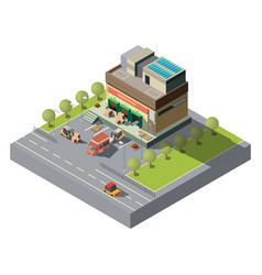 postal company warehouse isometric icon vector image