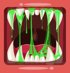 predatory jaws of a fantastic horrible scary vector image