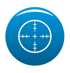 radiolocating icon blue vector image