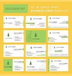 Set of 12 christmas calendar creative business vector