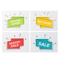 set of bright sale ribbons with particle blast vector image