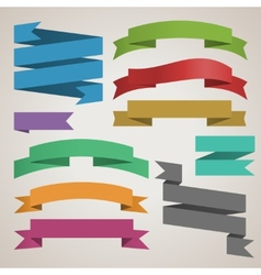 Set of retro ribbons vector image
