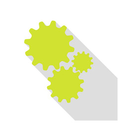 settings sign pear icon with flat vector image