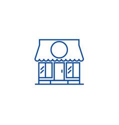 shop line icon concept shop flat symbol vector image