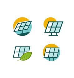 solar energy panel logo alternative energy vector image