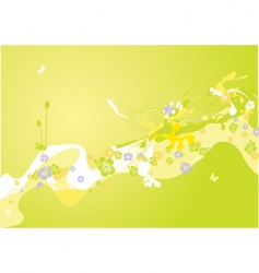 spring decoration vector image
