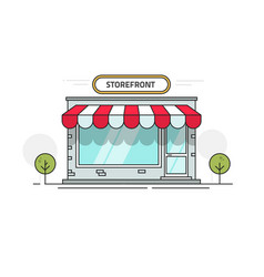 Store or shop front view vector