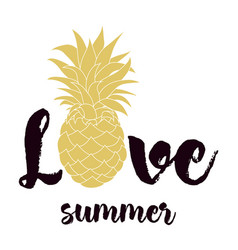 Summer pineapple card vector