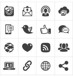 Trendy social network icons set vector