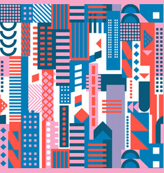 urbanism city background geometric flat design vector image