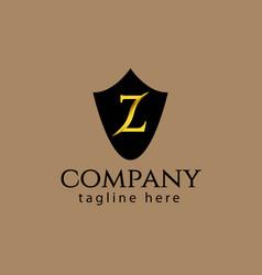 Z company logo template design vector