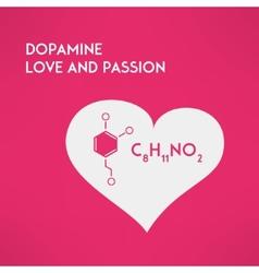 Love chemistry passion concept Dopamine vector image