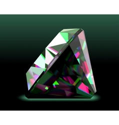 Shiny and bright diamond vector image